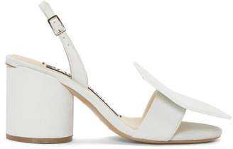 Jacquemus White Les Rond Carre Sandals