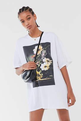 Urban Outfitters Modern Floral T-Shirt Dress