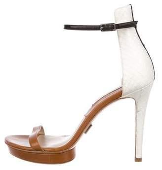 Michael Kors Leather & Snakeskin Sandals