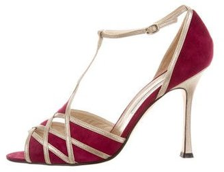 Brian Atwood Suede Cutout Sandals $145 thestylecure.com