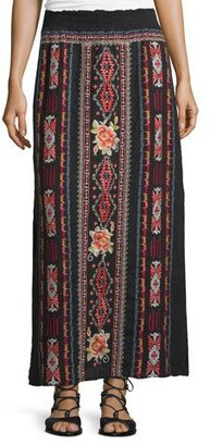 JWLA For Johnny Was Zona Embroidered Maxi Skirt, Black $245 thestylecure.com