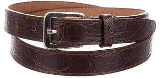 DSQUARED2 Embossed Leather Belt