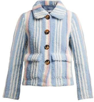 Saks Potts Lucy Striped Shearling Jacket - Womens - Blue Stripe