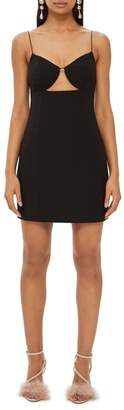 Topshop Deconstructed Bralet Body-Con Minidress