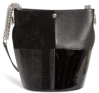 Alexander Wang Genesis Patchwork Leather Bucket Bag