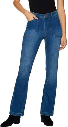 Isaac Mizrahi Live! TRUE DENIM Tall 5-Pocket Boot Cut Jeans