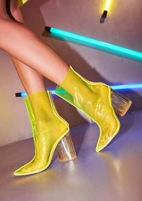 bcf1c1603ba0 Missy Empire Missyempire Page Neon Yellow Perspex Boots