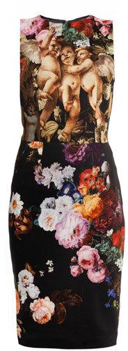 Dolce & Gabbana Cherub and floral-print dress