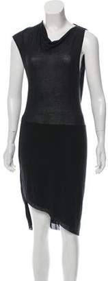Helmut Lang Gathered Sleeveless Dress