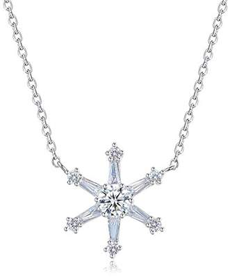 L・I・U Fei Liu Fine Jewellery Crystal Star Womens Pendant Best Christmas Gift with Classic Winter Touches 925 Sterling Silver AAA Cubic Zirconia Gift Box Packed