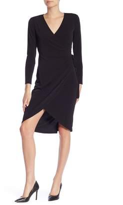 Joe Fresh Long Sleeve Front Wrap Dress