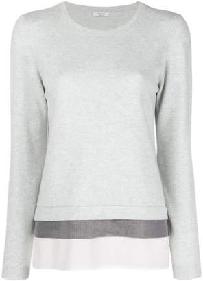 Peserico layer detail sweater