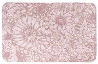 Designs Direct Pink Florals 34-Inch x 21-Inch Bath Rug in Pink