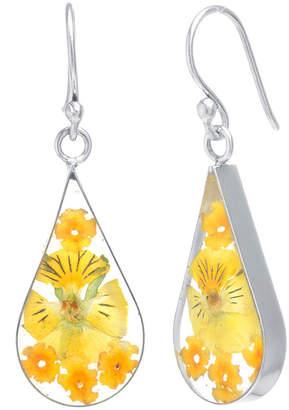 FINE JEWELRY Everlasting Flower Sterling Silver Flower Drop Earrings