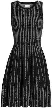 Milly Flared Jacquard-Knit Dress