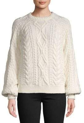 Maje Wool Cable-Knit Sweater
