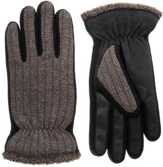 Isotoner Men's smarTouch Sherpa Tweed Gloves