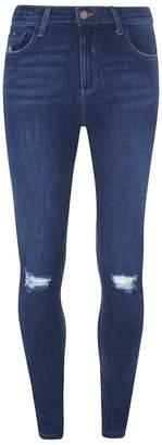 Dorothy Perkins Womens **Tall Indigo 'Darcy' Ripped Knee Jeans