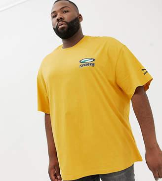Puma PLUS organic cotton t-shirt in yellow Exclusive at ASOS