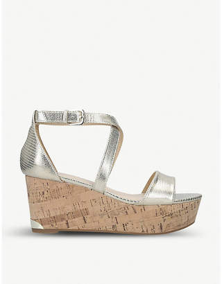Nine West Violet open-toe leather wedge sandals