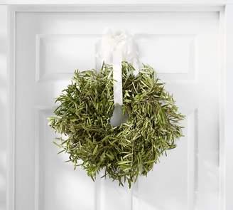 Pottery Barn Live Olive Leaf & Myrtle Wreath