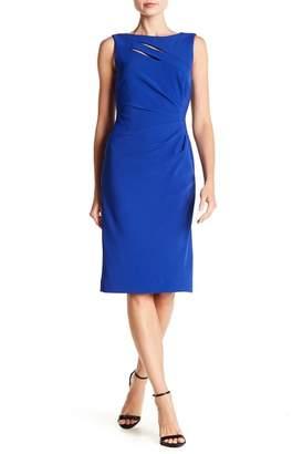Tahari Sleeveless Crepe Dress