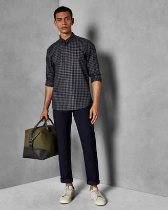 Ted Baker ELLOE Slim fit dot design trousers