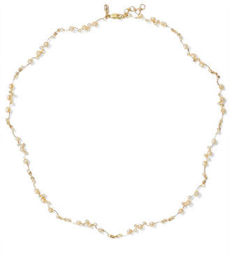 Sebastian SARAH & Lucid 9-karat Gold, Diamond And Pearl Choker