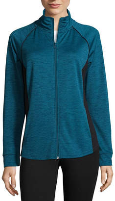 ST. JOHN'S BAY SJB ACTIVE Active Knit Midweight Track Jacket