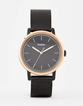 Fossil ES4467 Neely mesh watch in black 34mm