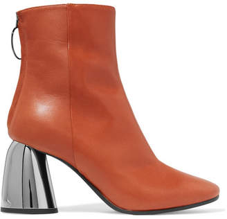 Ellery Leather Ankle Boots - Brown