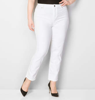 Avenue 5-Pocket Straight Leg Jean in White