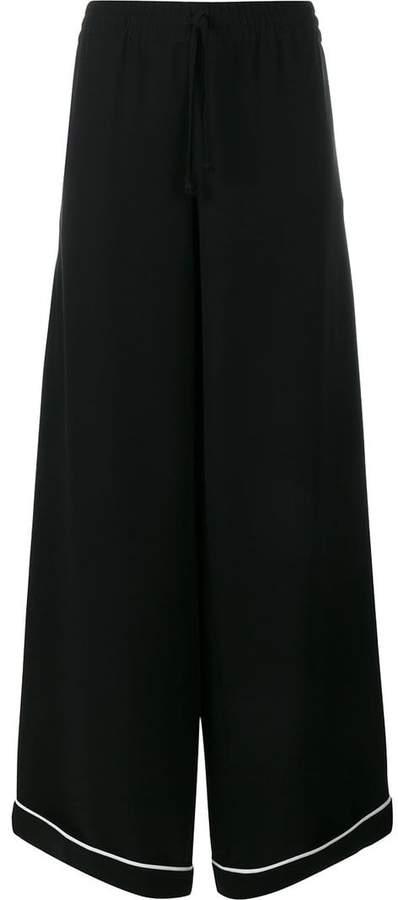 Valentino Wide-Leg Silk Trousers