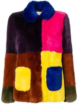 Marni oversized fur jacket