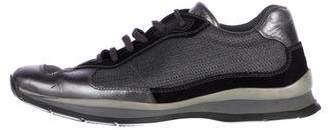 Prada Sport Metallic Low-Top Sneakers