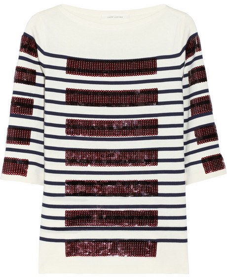 Marc Jacobs Sequin-embellished cotton-blend sweater