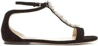 Jimmy Choo Averie crystal-embellished suede sandals