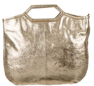 Tory Burch Metallic Leather Satchel