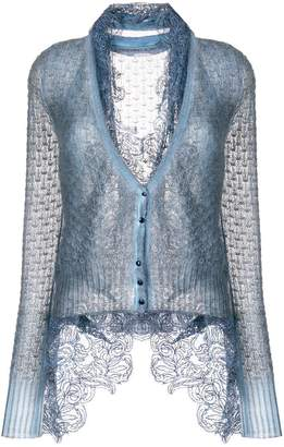 Ermanno Scervino lace-trimmed cardigan