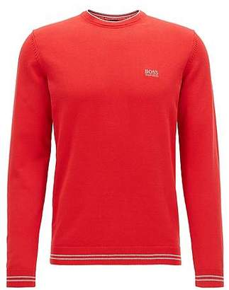 HUGO BOSS Crew-neck sweater in a cotton blend