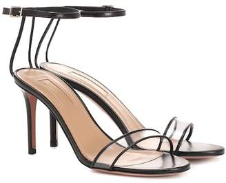 Aquazzura Minimalist 85 leather sandals