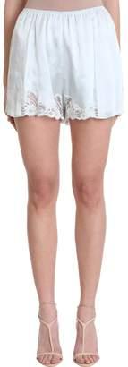 Stella McCartney Aquamarine Silk Shorts