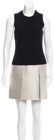 3.1 Phillip Lim3.1 Phillip Lim Wool-Paneled Pleated Dress
