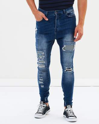 SikSilk Drop Crotch Denims