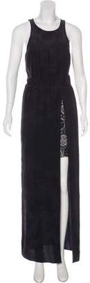 Gryphon Sleeveless Silk Maxi Dress