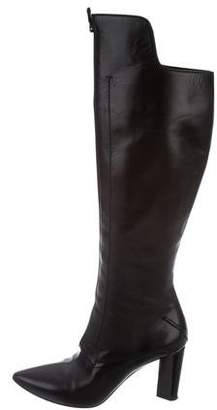 CNC Costume National Leather Pointed-Toe Boots