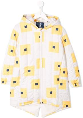 Bobo Choses geometric print padded coat