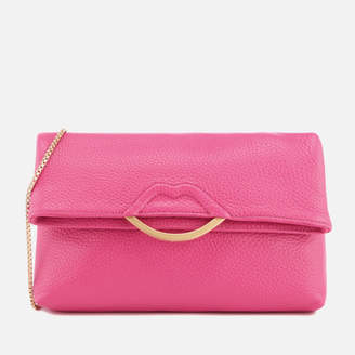 Lulu Guinness Women's Issy Half Covered Lip Shoulder Bag - Peony