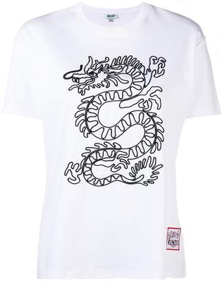 Kenzo dragon embroidery T-shirt