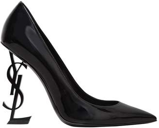 Saint Laurent 110mm Opyum Logo Patent Leather Pumps